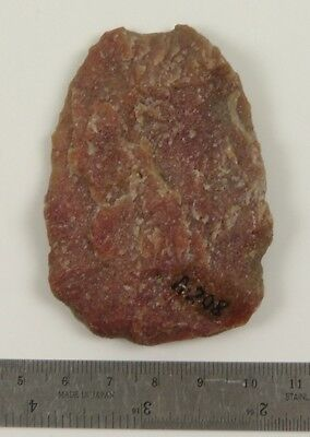 Pre-historic Red Quartzite BIFACE, Fort Saskatchewan, Alberta, A208 (Lot 5222)