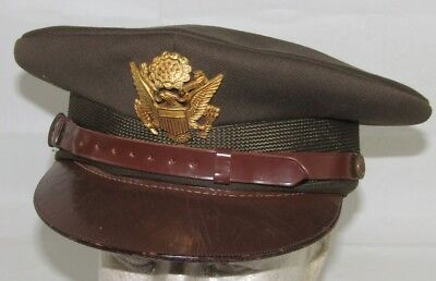 Rare WW2 US Army/AAF Officer's Visor Cap with Depot Stamping