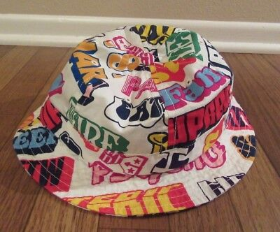 a3ec99ef6e5 Supreme Hysteric Glamour Text Bell Bucket Hat Size M L White FW17H90 NEW  FW17 DS