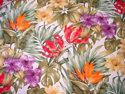 TROPICAL Round SUMMER Tablecloth FLORAL Bright & COLORFUL ENTERTAINER Flowers