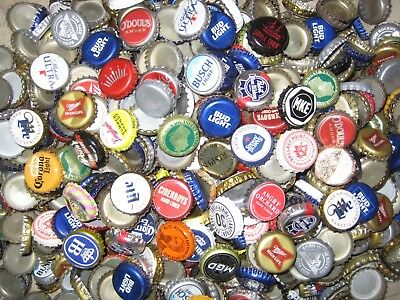 1000+ ASSORTED BEER BOTTLE CAPS (Many Colors!) D