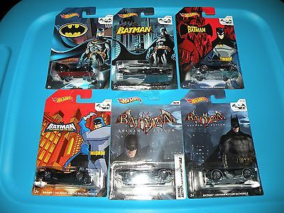 2014 Hot Wheels BATMAN 75 years anniversary Walmart Exclusives lot of 6
