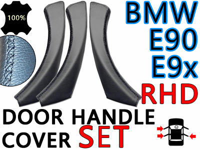 Leather Cover Set BMW 3 series (RHD) 318d, 325i, 335d, 335i Door Handles