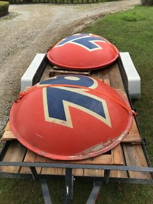 """UNION 76 Gas Oil Sign 7"""" Two Piece Ball Vintage Service Station"""