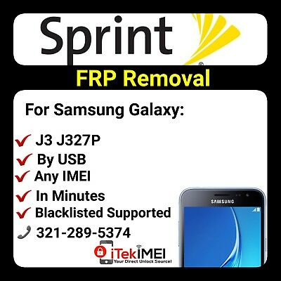 INSTANT SPRINT GALAXY J3 Prime J327P FRP Google Lock Removal ☆DONE REMOTELY☆