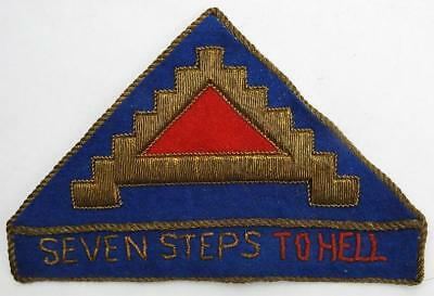 WWII 7th INFANTRY Div. BULLION PATCH GERMAN MADE