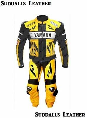 Yamaha Motorcycle Leather Suit 1 PC / 2 PC CE Approved Protections High Quality