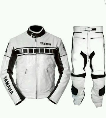 Yamaha Motorcycle Leather Suit 1 PC/2 PC CE Approved Protections High Quality