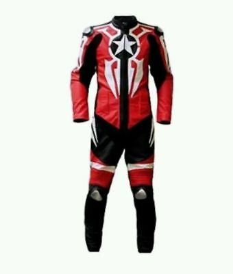 Captain A Motorcycle Leather Suit 1 PC/2 PC CE Approved Protections High Quality