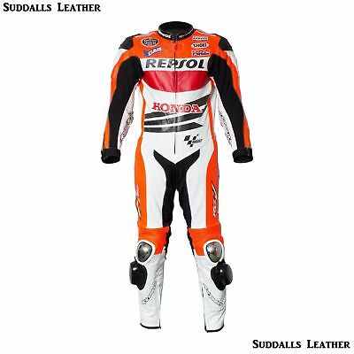 Honda Motorcycle Leather Suit 1 PC/2 PC CE Approved Protections High Quality
