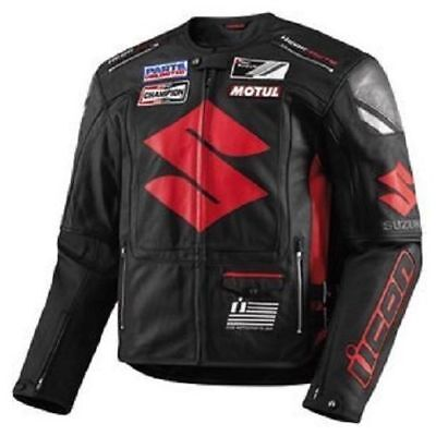 Suzuki Motorcycle Leather Suit 1 PC / 2 PC CE Approved Protections High Quality
