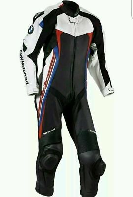BMW Motorcycle Leather Suit 1 PC/2 PC CE Approved Protections High Quality
