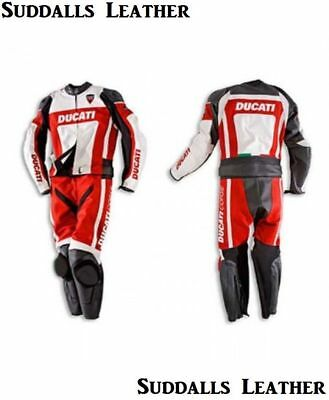 Ducati Motorcycle Leather Suit 1 PC/2 PC CE Approved Protections High Quality