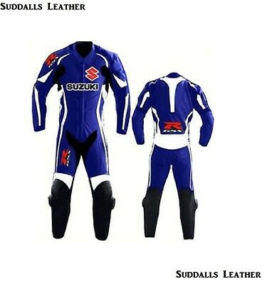Suzuki 2017 Motorcycle Moto-GP Leather Racing Suit CE Approved