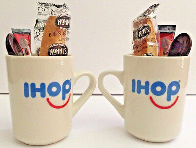 (2) IHOP Authentic, Genuine Coffee Cups Mugs.  8 oz  American Classic! Mugs Only
