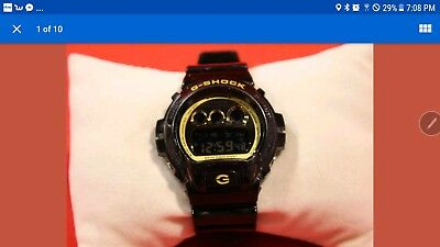 Casio (DW-6900B) Garish Trending Series - 200M - Black/Gold - Men's Watch AS-IS