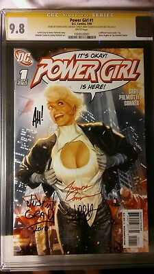Power Girl #1 CGC SS graded 9.8 signed D.C. comics JSA Justice Society Of Americ
