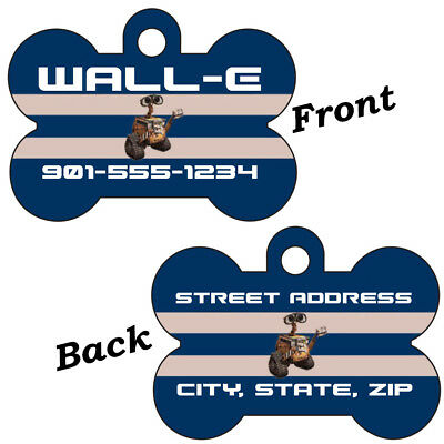 Disney Wall-E Double Sided Pet Id Dog Tag Personalized for Your Pet