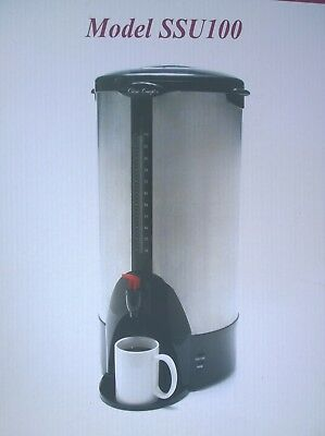NIB Classic Concepts SSU100 100-Cups Stainless-Steel COFFEE URN