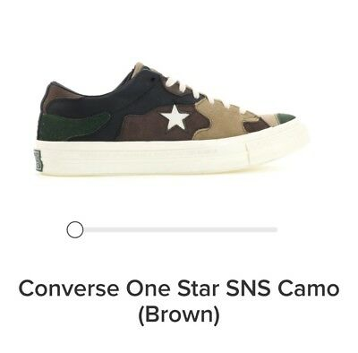 574b243bb0948 Sneakersnstuff SNS x Converse One Star Brown Camo Men's Size 9 - READY TO  SHIP