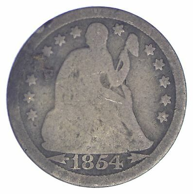 1854 Seated Liberty Silver Dime *972