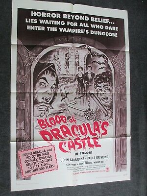 "Blood of Dracula's Castle 1969 John Carradine 27"" x 41"" 1 Sheet Movie Poster"