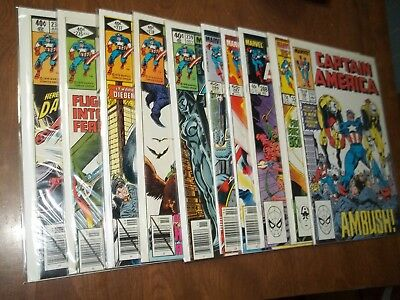 Captain America #234-346 Lot Of 10 Avg. Vf Daredevil Deathlok App.