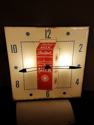 Antique Pam clock co sealtest milk Dairy advertising made in usa