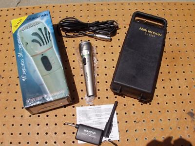 Mountain Wireless Microphone El1131 Complete Karoke Excellent Condition