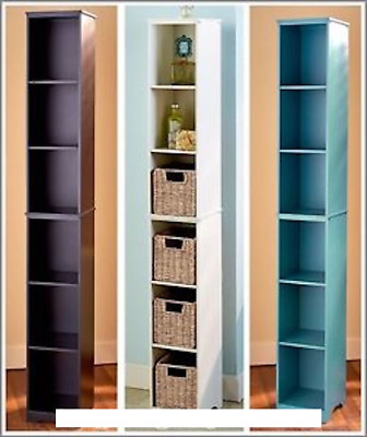 Charmant Slim Storage Tower With Or Without Basket Set/ 3 Colors To Choose From