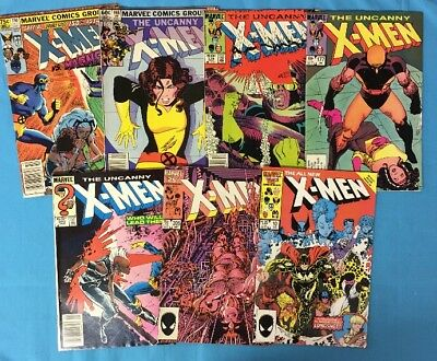 The Uncanny X-Men Lot #150, 168, 176, 177, 201, 205, Giant Size #10 All VF