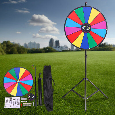 """24"""" Editable Dry Erase Color Prize Wheel of Fortune Spinning Game Tradeshow New"""