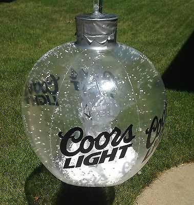 Coors Light Beer Signs Blow Up Inflatables Snow Globes Man Cave Game Room NOS