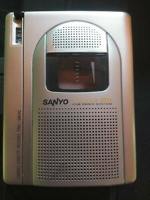 Sanyo TRC-960C Standard Cassette Compact Voice Recorder Dictaphone Dictation