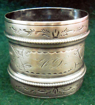 Antique Gorham Coin Silver Napkin Ring 1852-1865