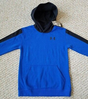 Under Armour Cold Gear NEW w/Tags Youth Blue w/Black Hoodie Youth Size L