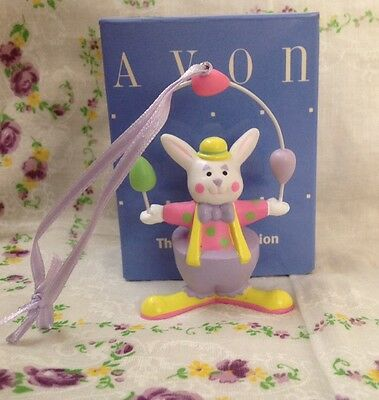 Avon, Gift Collection, Easter Bunny Clown Ornament, Perfect Juggler Vintage