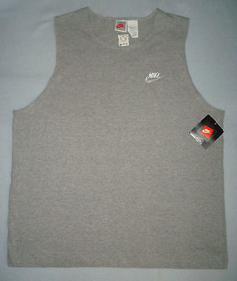 NIKE VINTAGE 80s 90s NWT TANK TOP XXL HEATHER GRAY TAG NEW OLD STOCK WITH TAGS