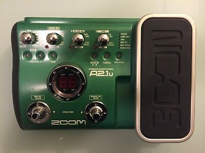 * Zoom A2.1u Acoustic Guitar Multi-Effects Pedal / USB Interface: RRP $495