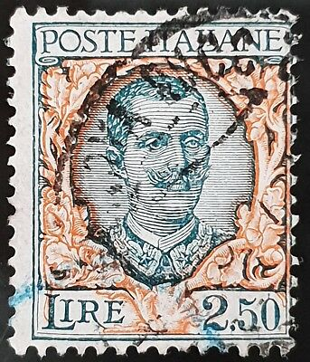Italy Sg # 187 Used HR 2.50 Lira Stamp Lot #2