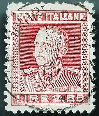 Italy Sg # 214 Used HR 2.55 Lira Stamp