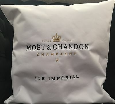 Moet Chandon Ice Imperial Champagne Outdoor  White Cushion  New 40Cms X 40Cms