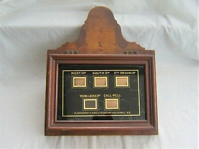Antique Butlers Bell Box early 20th Century - Vauxhall  London servants vintage