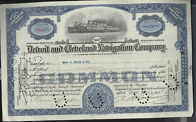 Detroit-and-Cleveland-Navigation-Company-Stock-Certificate