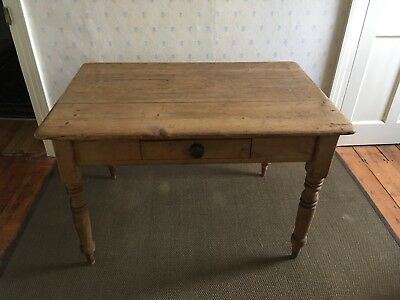 Victorian pine kitchen table and chairs