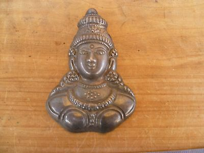 Vintage Old Indian Made Face, Figure Wall Hanging Ornament (D868)