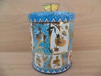 Vintage Old Round Kitchen Canister, Tin, Old Tin (F146)