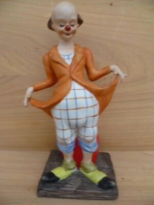 Vintage Old Clown Figure, Old Joker Figurine (G653)