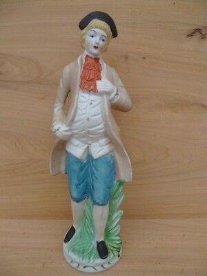 Vintage Old Large Figure Of A English Gentleman, Statue (G629)