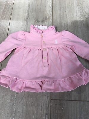 Baby Girl Ralph Lauren pink long sleeve top 0-3 months 3 months